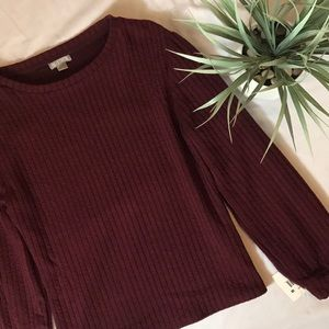 NWT Falls creek Burgundy sweater size small ( s )